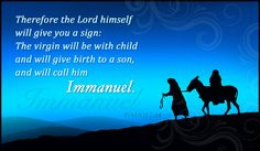 Free Isaiah 7:14 eCard - eMail Free Personalized Scripture Cards Online