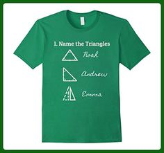 Mens Name the triangles T shirt: Funny math triangles T shirt Small Kelly Green - Math science and geek shirts (*Amazon Partner-Link)