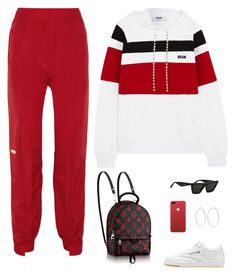 """""""Untitled #5354"""" by mdmsb ❤ liked on Polyvore featuring MSGM, Vetements, Reebok and Carolina Bucci"""