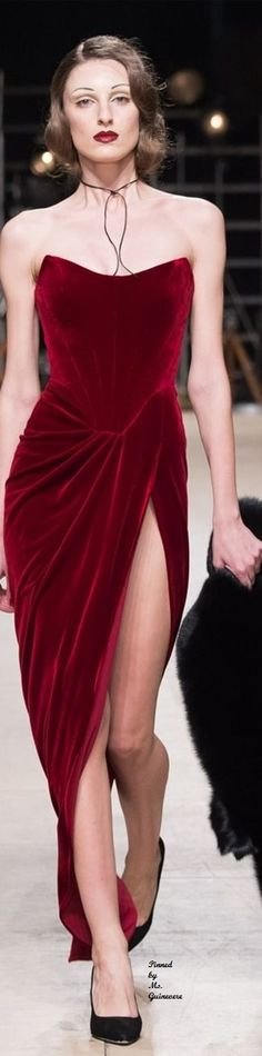 Ester Abner ~ Fall Winter 2016 2017 RTW ::: this dress is everything Haute Couture Style, Couture Mode, Couture Fashion, Runway Fashion, High Fashion, Womens Fashion, Retro Stil, Velvet Fashion, Mode Inspiration