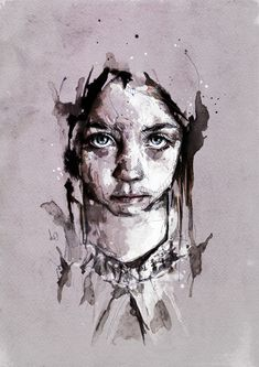 Florian Nicolle- illustration with ink L'art Du Portrait, A Level Art, Inspiration Art, Watercolor Portraits, Love Art, Cool Drawings, Amazing Art, Awesome, Art Photography