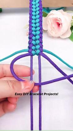 Rope Crafts, Diy Crafts Hacks, Diy Crafts Jewelry, Bracelet Crafts, Macrame Bracelet Diy, Diy Bracelets Patterns, Diy Friendship Bracelets Patterns, Diy Bracelets Easy, Diy Bracelets With String