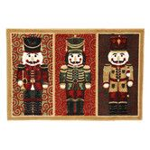 Home for the Holidays Nutcrackers Novelty Rug