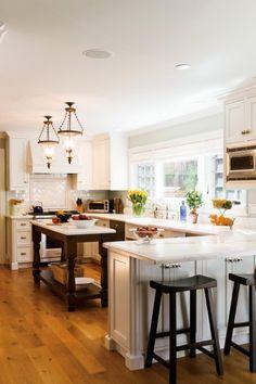 small kitchen peninsula - Google Search