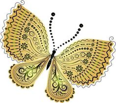 """Photo from album """"Рисованные бабочки"""" on Yandex. Butterfly Clip Art, Butterfly Pictures, Butterfly Painting, Butterfly Design, Dot Painting, Butterfly Wings, Butterfly Mobile, Wings Etc, Wood Burning Patterns"""