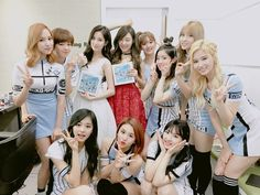 Awwww #Twice supporting sunbaenim #Tiffany from #GirlsGeneration along with #Seohyun and vice versa❤️❤️❤️