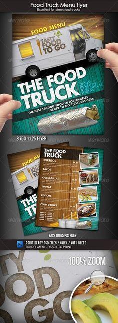 Food Truck Menu Flyer menus