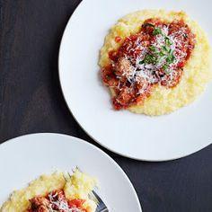 Parmesan Polenta with Sausage Ragout