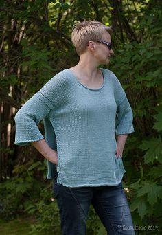 Liehu-pullover | Rowan Cotton Lustre  | Hand knit | Koukuttamo
