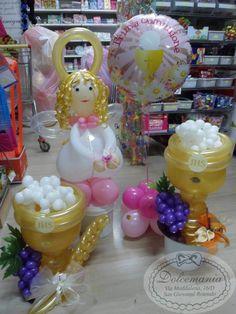 #dolcemania #palloncini #comunione #calice #angelo #angioletto #centrotavola #balloons #sangiovannirotondo #puglia #italia #balloons #primacomunione