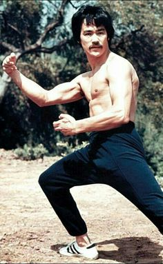 Bruce Lee with stache!