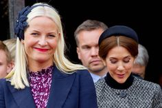 Crown Princess Mette Marit and Crown Princess Mary, May 9, 2014   Royal Hats