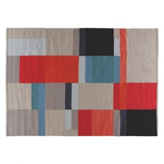 CUBIST Large multi-coloured wool blend rug 170 x 240cm