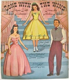 Gone With The Wind Paper Dolls Pink Merrill Vintage 1940