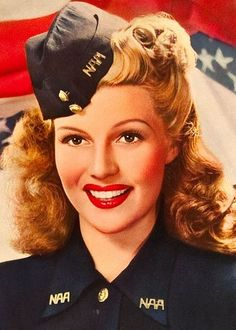 retrogasm: Happy Veterans Day from Rita Hayworth.
