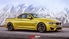 Wow, what if BMW made an M4 pickup truck? It would look something like this.
