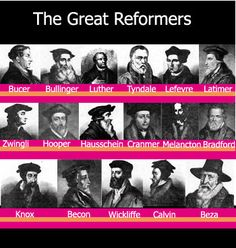 Great reformers of time past.