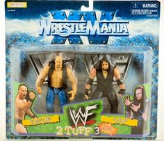 WWF / WWE - 1998 - Wrestle Mania XV - 2 Tuff 3 - Stone Cold steve Austion (The Rattlesnake) vs Undertaker (The Phenom) - Includes Silver Display Bases - Limited Edition - Collectible WWF http://www.amazon.com/dp/B000MURPPQ/ref=cm_sw_r_pi_dp_X3dJwb04DNMAY