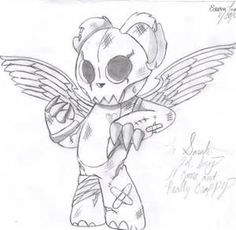 Scary Teddy Bear Drawing - Bing images