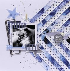 hey you fluffy kitty layout for kaisercraft - Scrapbook.com