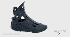 3ders.org - Futuristic Human Quarter Mile shoe features modular, 3d printed exo-frame for enhancing athletic experience | 3D Printer News & 3D Printing News