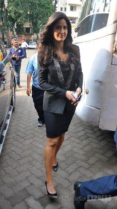Katrina Kaif spotted at the Mehboob studios for the media interactions of her movie 'Bang Bang'. #Bollywood #Fashion #Style #Beauty