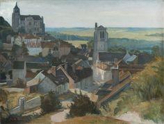Émile Bernard, Tonnerre les deux églises, 1904 Huile sur toile, 67 x 83 cm Collection particulière © Photo musée d'Orsay / Patrice Schmidt