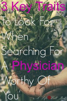 Finding a good doctor is SO IMPORTANT with Fibromyalgia, CFS M.E. I looked for these 3 things when searching for a GOOD DOCTOR and I found an EXCELLENT one!  There really is a difference between a 'doctor' and a 'healer' ♥♥♥ *Pin now read later (scheduled via http://www.tailwindapp.com?utm_source=pinterest&utm_medium=twpin&utm_content=post57152188&utm_campaign=scheduler_attribution)