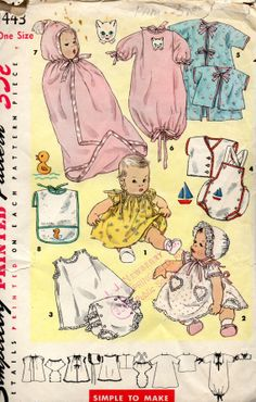 I am sure my Oklahoma City Grandma made me a whole vintage 1950s infant LAYETTE before I was born