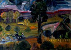 Авторские галереи - KANDINSKY-DAE-2о16 / Рассвет в Эртегово. Картон, масло…