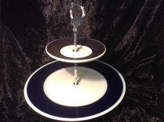 2er Etagere classic kobaltblau