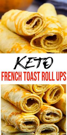 {Keto French Toast} Tasty & easy low carb keto french toast recipe w/ this roll up bread recipe. Quick & yummy french toast roll ups for simple keto breakfast, snack or keto dinner. Learn how to make keto french toast roll ups w/ easy ketogenic diet Keto Cookies, Low Carb Keto, Low Carb Recipes, Healthy Recipes, Easy Christmas Dinner, French Toast Roll Ups, Simple French Toast Recipe, Tostadas, Best Macaroni And Cheese