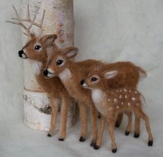 Needle Felted Deer Fawn White Tailed Wool by ClaudiaMarieFelt