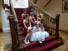 #StAudriesPark #Wedding #Venue #Bridesmaids #Stairs Wedding Stairs, Real Couples, Prom Dresses, Formal Dresses, Real Weddings, Wedding Photos, Wedding Photography, Bridesmaids, Park