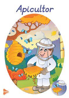 Planșele sunt ilustrate atractiv, reprezintă diferite meserii precum: medic, profesor, actor, fotbalist, grăsinar, fermier, etc. Teaching Weather, Experiment, Preschool Learning Activities, Tweety, Montessori, Paper Flowers, Education, Fictional Characters, Insects