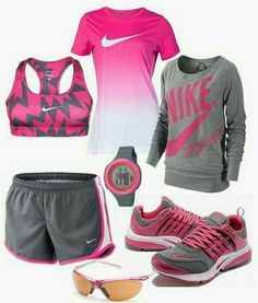 Pink and gray nike outfit nike shoes outlet, nike free shoes, workout outfi Nike Outfits, Outfits Casual, Style Outfits, Hip Hop Outfits, Sport Outfits, Office Outfits, Fashion Male, Pink Fashion, Sport Fashion