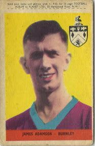 Jimmy Adamson of Burnley in 1960.