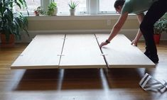 """Get excellent tips on """"murphy bed ideas ikea diy"""". They are on call for you on our website. Diy Platform Bed Frame, Platform Bed Designs, Platform Bed With Storage, Bed Platform, Floating Platform, Cama Design, Camas Murphy, Murphy-bett Ikea, Diy Bett"""