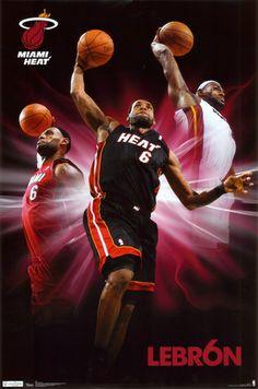 Heat - Lebron James Poster at AllPosters.com