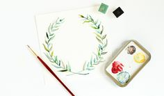 Three Watercolor Leaves Tutorials – The Postman's Knock Postman's Knock, Diy Letters, Watercolor Leaves, Artsy Fartsy, Art Lessons, Design Elements, Hand Lettering, Christmas Crafts, Doodles