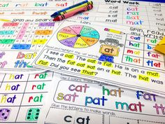CVC Word Family -Interactive Word Work Activities and Games for little learners! Reading, Writing, Spelling. Print and go.