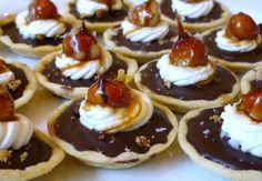 Chocolate Hazelnut Tarts - rich chocolate, hazelnuts and salt caramel!