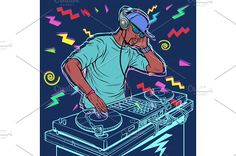 Retro Vector, Turntable, Pop Art, Dj, Comic Books, Illustrations, Comics, Concert, Style