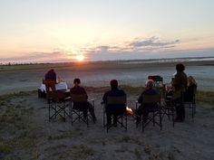 Sundowners on the Makgadikgadi Salt Pans, Kalahari Desert, Botswana Victoria Falls, Safari, Salt, African, Tours, Celestial, Sunset, Outdoor, Sunsets