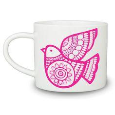 Patterned Bird Mug -