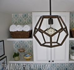 How to: Make an Embroidery Hoop Pendant Lamp » Curbly   DIY Design Community