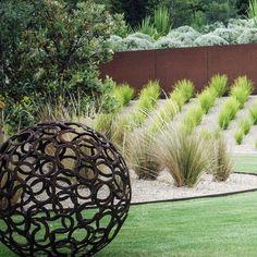 Flinders 〰️ coastal garden . . . . Garden design - JRLD  Architect - Woods Bagot Garden install - Remato Constructions & Granite Landscapes… Landscape Design, Garden Design, Native Australians, Coastal Gardens, Granite, Garden Sculpture, Sculptures, Construction, Rose