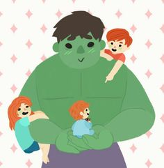 HulkWidow babies!!!!! HULK is probably a awesome father!!!