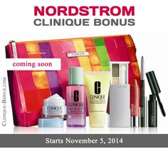 Preview of Nordstrom Gift with Purchase. (starts on Nov 5, 2014). You can pre-order now.