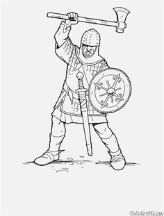 Soldiers and knights coloring pages 8 | SCA | Coloring ...